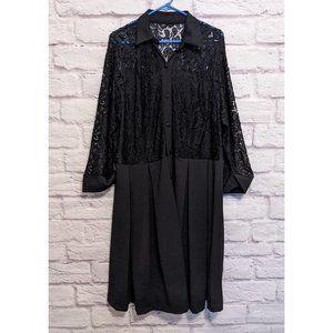 ROZ & ALI Dress - Midi Length - Size 24